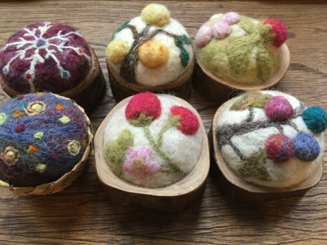 Pin Cushions: Felting
