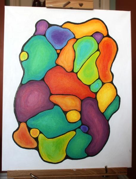 Acrylic Abstract: A Feeling